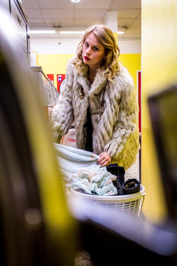 Fotoshooting im Waschsalon