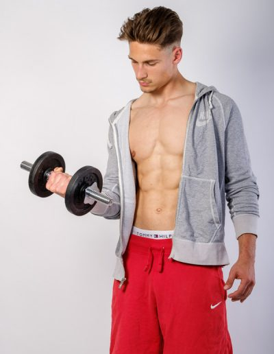 Sedcard-Shooting mit Male-Model