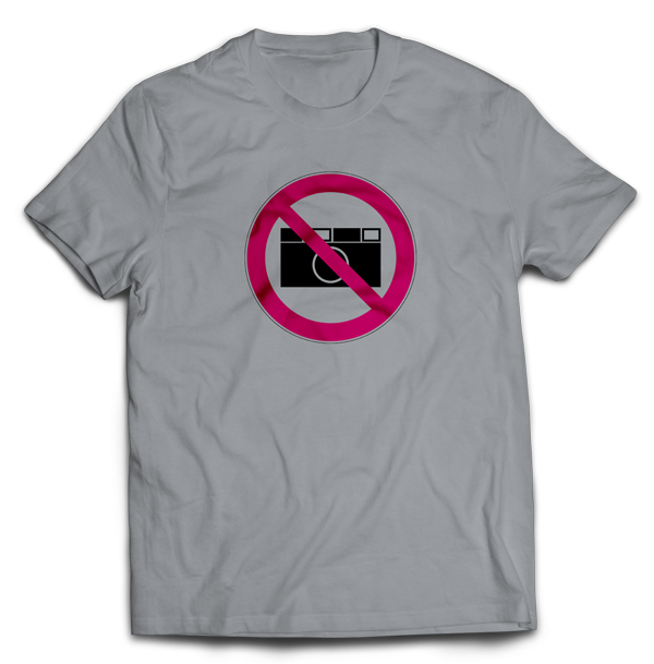T-Shirt Fotografieren verboten