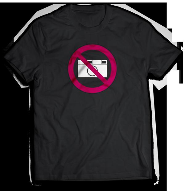 fotografieren verboten das passende t shirt f r jeden. Black Bedroom Furniture Sets. Home Design Ideas